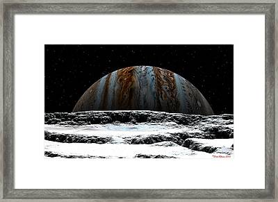 Jupiter Rise At Europa Framed Print
