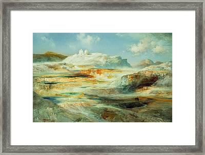Jupiter Terrace  Yellowstone Framed Print by Thomas Moran