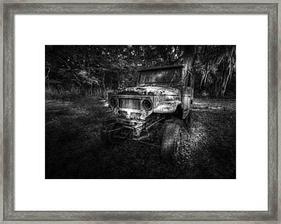 Jurassic Four Wheeler Framed Print by Marvin Spates