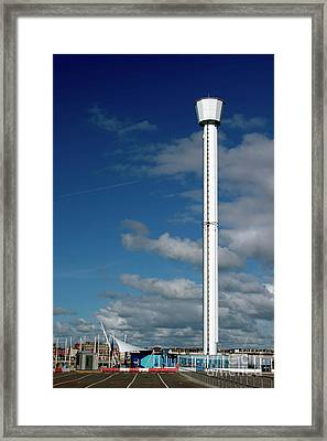 Jurassic Skyline Tower Framed Print by Baggieoldboy