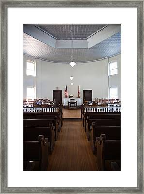 Jury Box In A Courthouse, Old Framed Print by Panoramic Images
