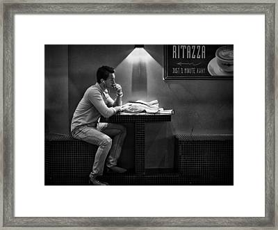 Just 1 Minute Away Framed Print