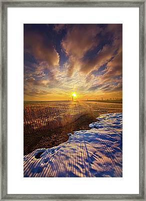 Framed Print featuring the photograph Just A Bit More To Go by Phil Koch