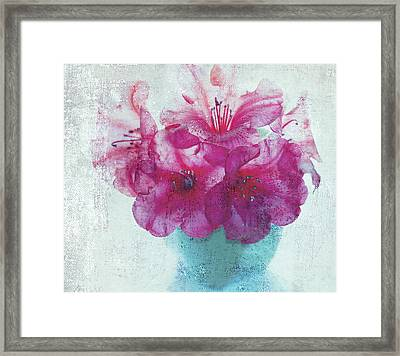Just A Bowl Of Flowers Framed Print by Rebecca Cozart