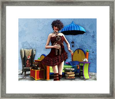 Just A Doll Framed Print by Jutta Maria Pusl