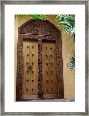 Just A Door Framed Print by James Johnstone