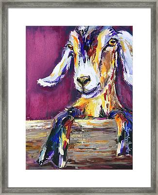 Just A Kid- Original Oil Painting And Prints Framed Print by Kim Guthrie