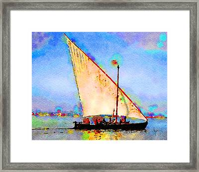 Framed Print featuring the painting Just A Lazy Afternoon by Angela Treat Lyon