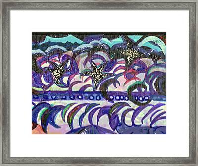 Just A Little Night Mosaic Framed Print by Anne-Elizabeth Whiteway