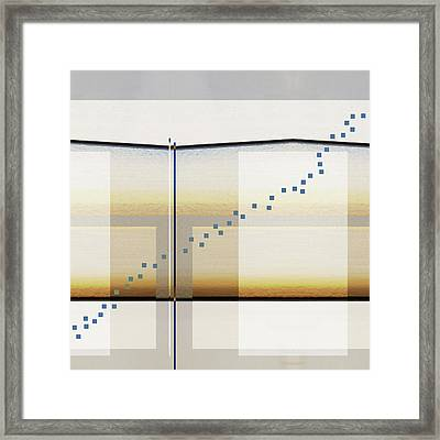Just A Little Off Course Framed Print