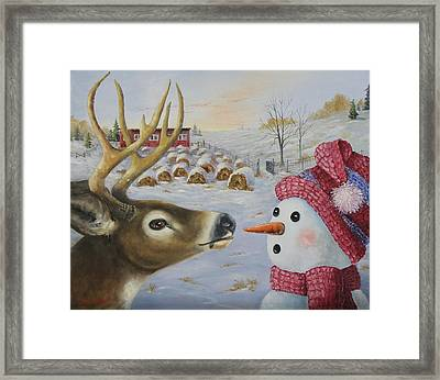 Just A Nibble Framed Print