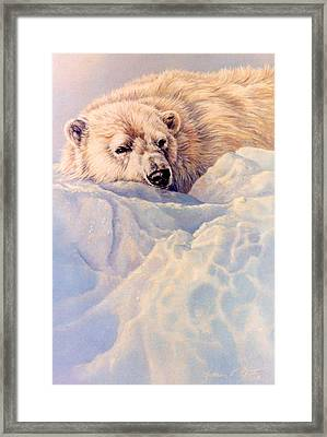 Just A Peek Framed Print by Kathleen  V  Butts