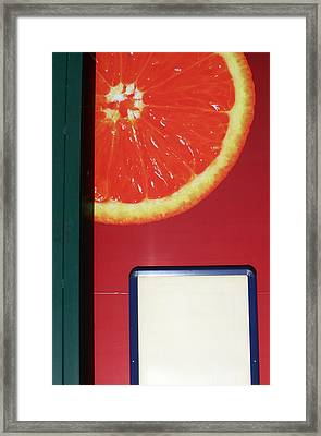 Just A Slice Por Moi Framed Print by Jez C Self