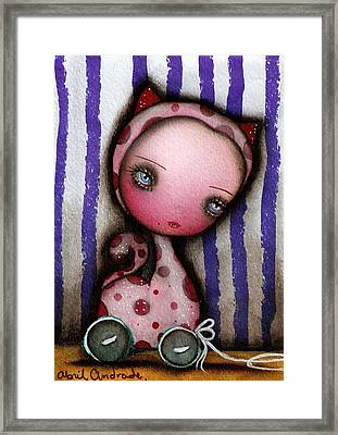 Just A Toy Framed Print by  Abril Andrade Griffith