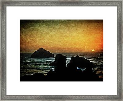 Just About Sunset Framed Print