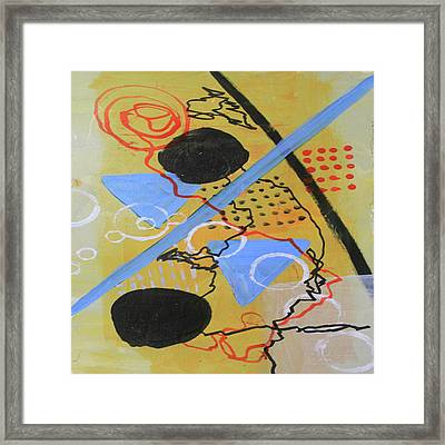 Just Above The Line Framed Print
