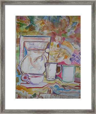 Just Add Coffee Framed Print by James Christiansen