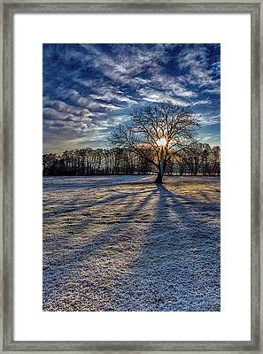 Just After Sunrise On A Cold Morning Framed Print