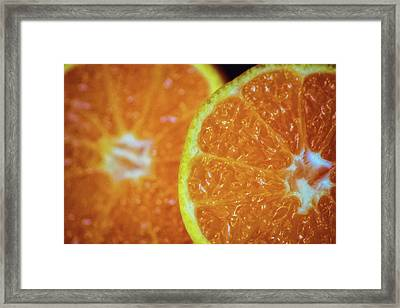 Just An Orange Framed Print by Martin Newman