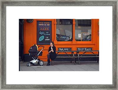 Just An Orange Will Be Fine Framed Print by Jez C Self