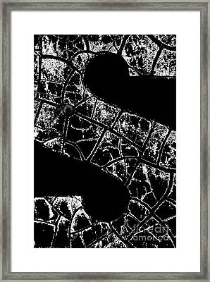 Framed Print featuring the photograph Just An S by Wendy Wilton