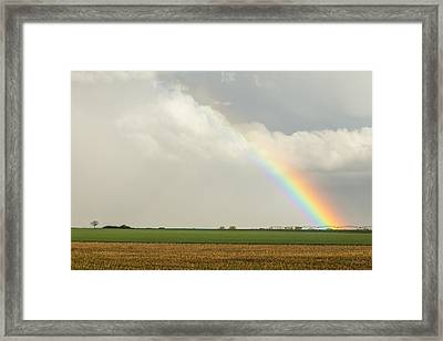 Just Another County Rainbow Framed Print