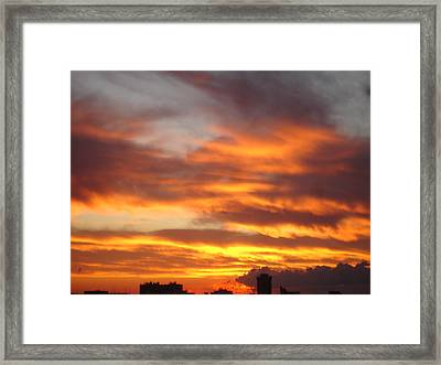 Just Another Friday Morning Framed Print by Roger Cummiskey