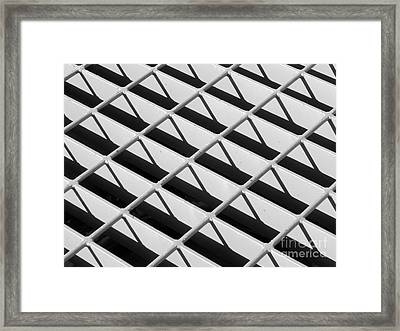Just Another Grate Framed Print