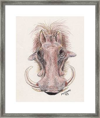 Just Another Pretty Face Framed Print by Marqueta Graham