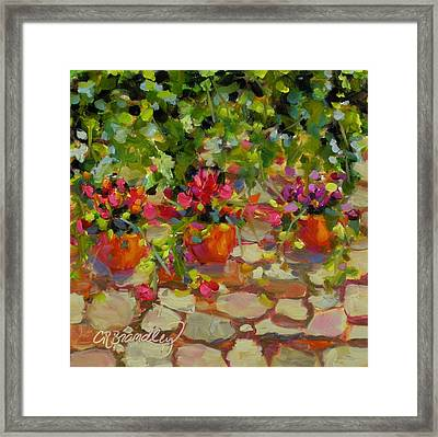 Just Another Wall In Tuscany Framed Print