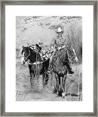 Just Another Western Workday Framed Print