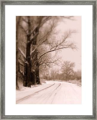 Just Around The Bend  Framed Print by Carol Groenen
