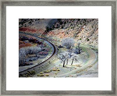 Just Around The Corner Framed Print
