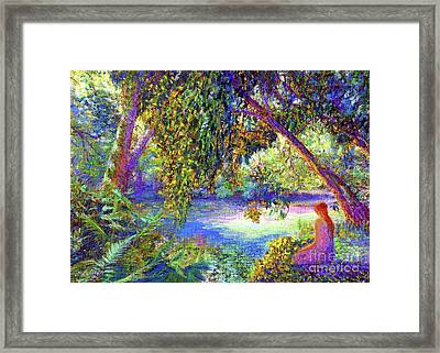 Just Be Framed Print by Jane Small