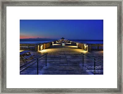 Framed Print featuring the photograph Just Before Dawn Folly Beach Pier Charleston Sc Sunrise Art by Reid Callaway