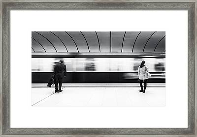 Just Before Leaving Framed Print by Gerard Jonkman