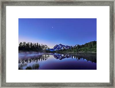 Framed Print featuring the photograph Just Before The Day by Jon Glaser