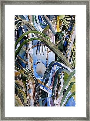 Just Being Framed Print by Mindy Newman