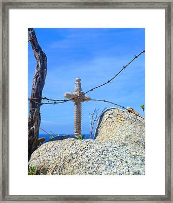Just Beyond Framed Print by Barbie Corbett-Newmin