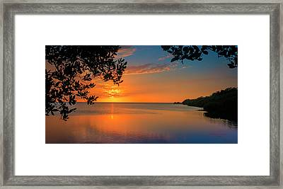 Just Beyond The Window Framed Print