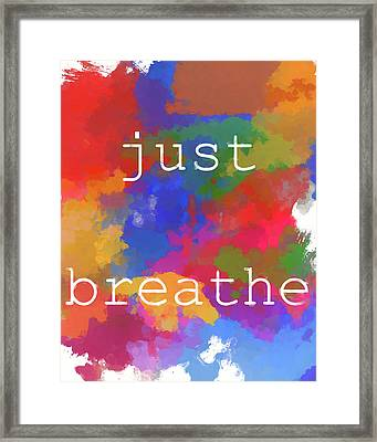 Just Breathe Framed Print by Dan Sproul