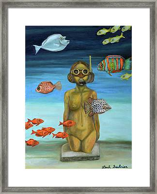 Just Breathe Framed Print by Leah Saulnier The Painting Maniac