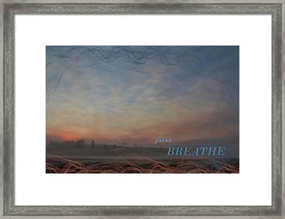Just Breathe Framed Print by Nadine Berg