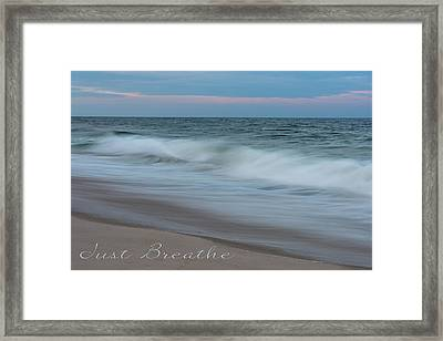 Just Breathe Seaside New Jersey Framed Print by Terry DeLuco
