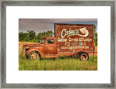 Just Call Casey Framed Print