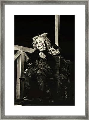 Just Creepy  Framed Print