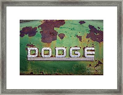 Framed Print featuring the photograph Just Dodge by Terry Rowe