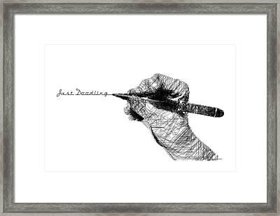 Just Doodling Framed Print