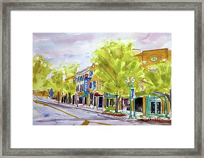 Just Down The Street Framed Print by Tim Ross