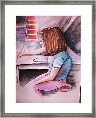 Just Draw Me Framed Print by Scott Easom
